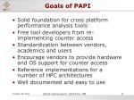 goals of papi