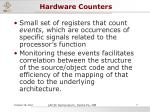 hardware counters