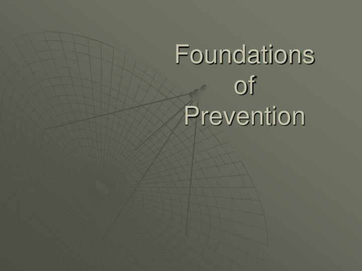 foundations of prevention n.