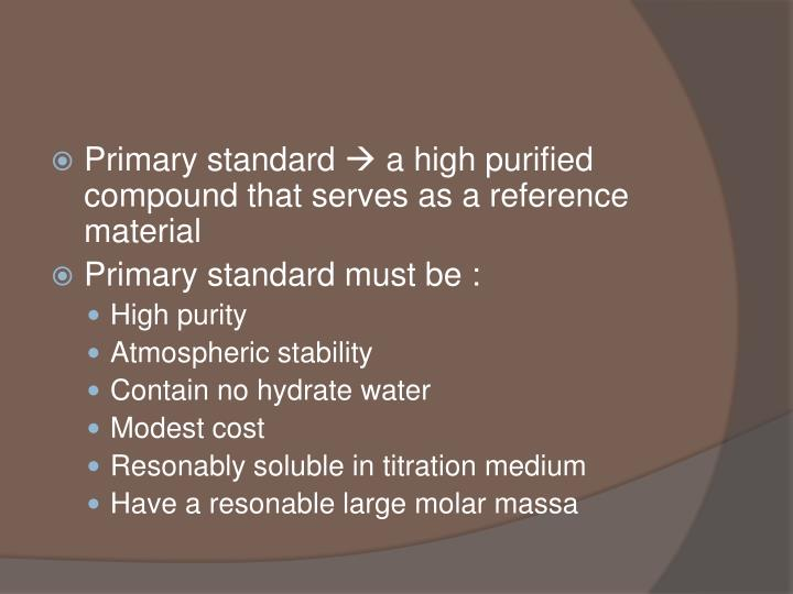 Primary standard