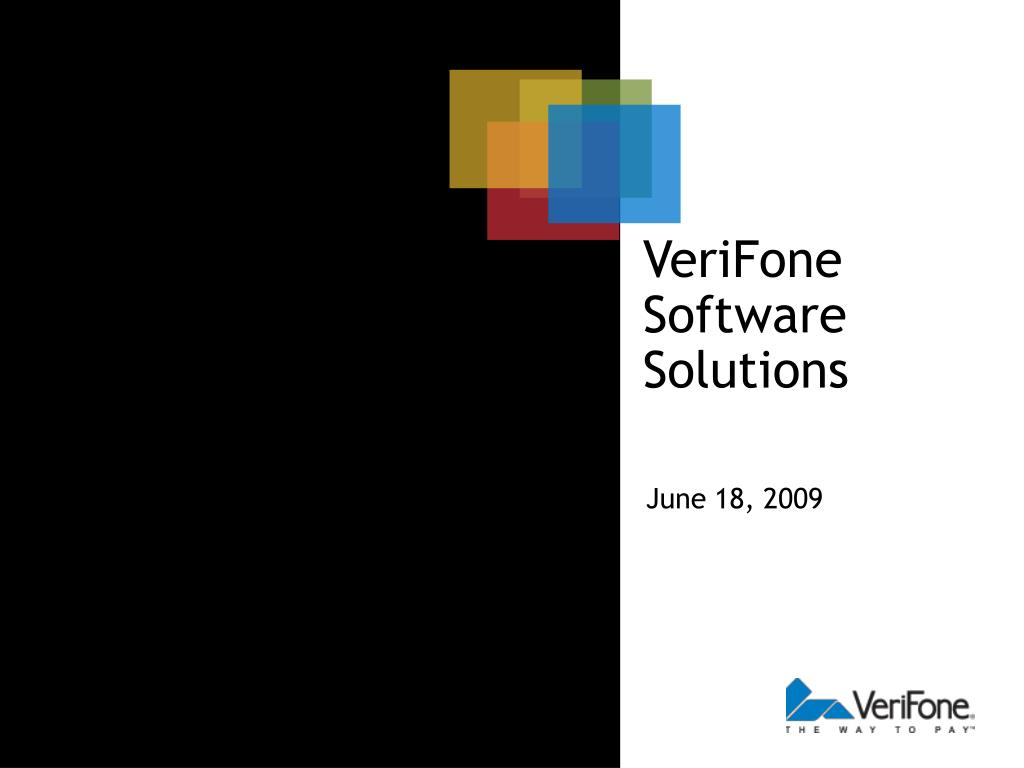 PPT - VeriFone Software Solutions PowerPoint Presentation