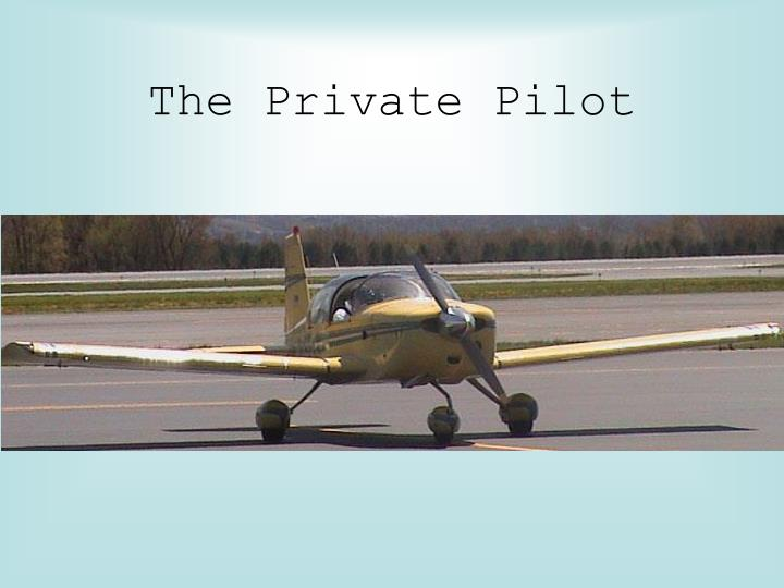 the private pilot n.