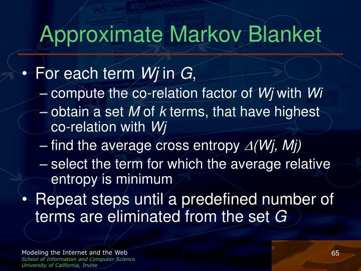 Approximate Markov Blanket