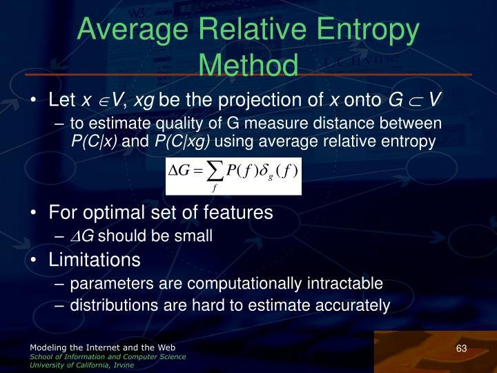 Average Relative Entropy Method