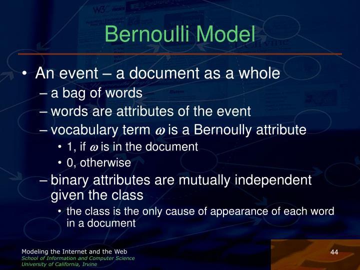 Bernoulli Model