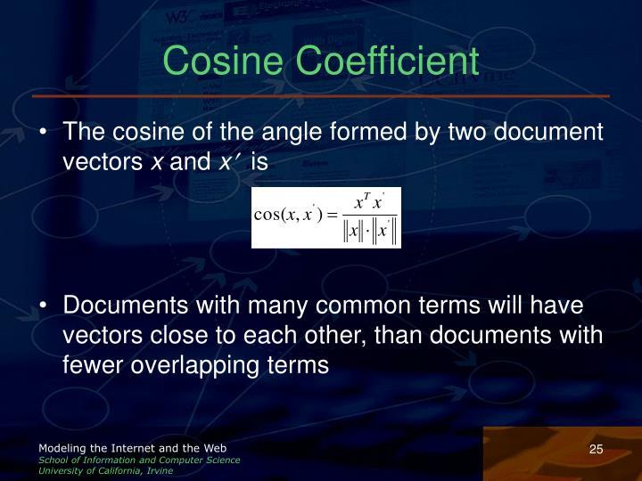 Cosine Coefficient