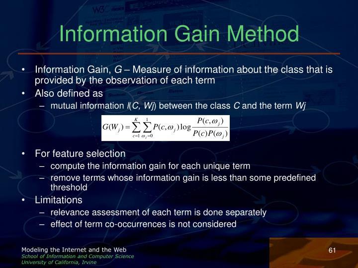 Information Gain Method