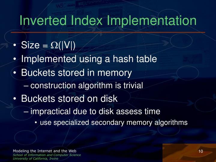 Inverted Index Implementation