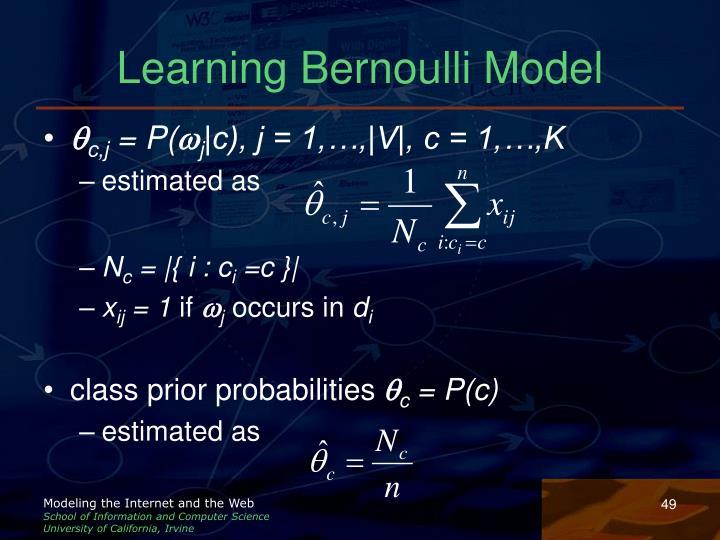 Learning Bernoulli Model