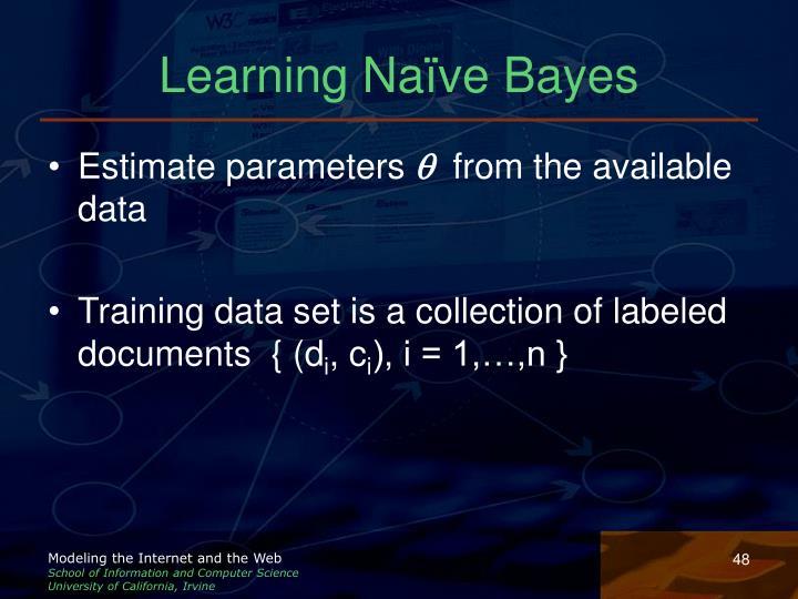 Learning Naïve Bayes