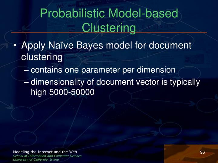 Probabilistic Model-based Clustering