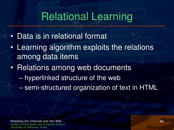 Relational Learning