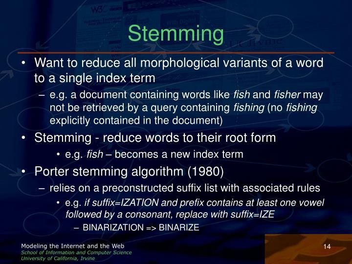 Stemming