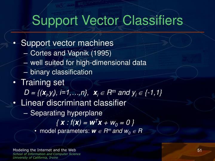 Support Vector Classifiers