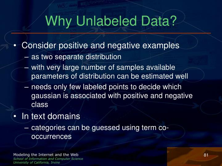 Why Unlabeled Data?