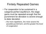 finitely repeated games2