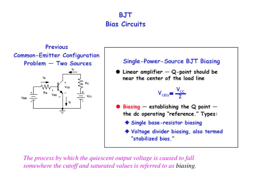 Ppt The Process By Which Quiescent Output Voltage Is Caused To Divider Bias Circuit Of Bjt Fall Powerpoint Presentation Id6776084