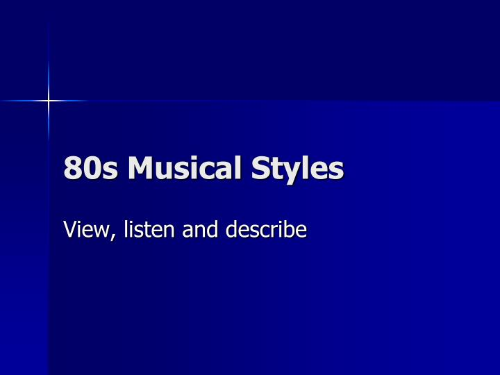 80s musical styles