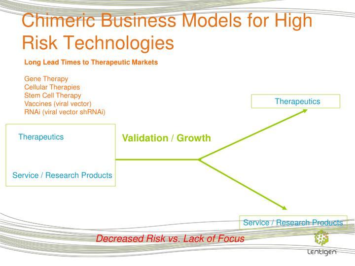 Chimeric Business Models for High Risk Technologies