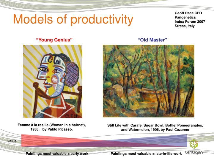 Models of productivity