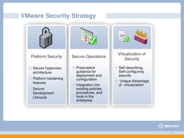 Vmware security strategy