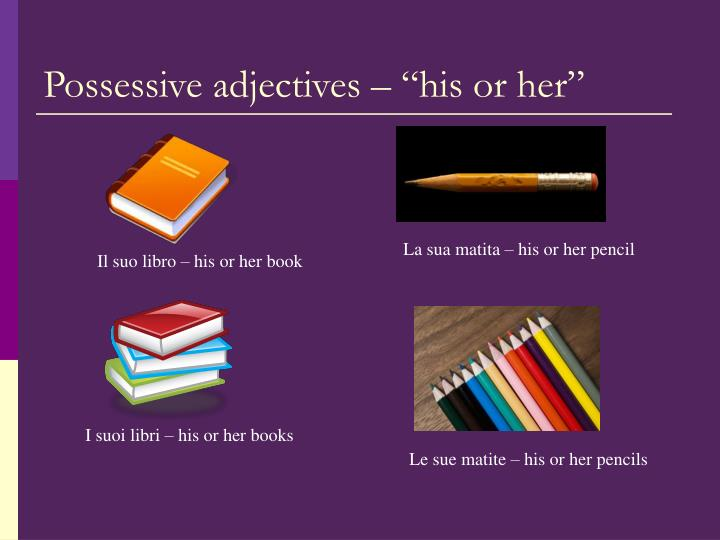 """Possessive adjectives – """"his or her"""""""