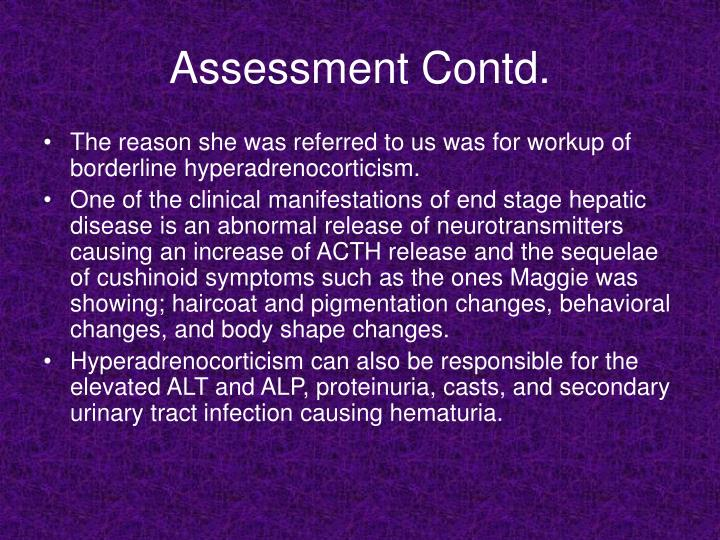 Assessment Contd.