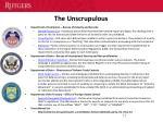 the unscrupulous