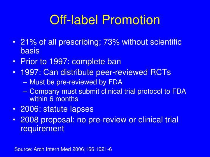 Off-label Promotion