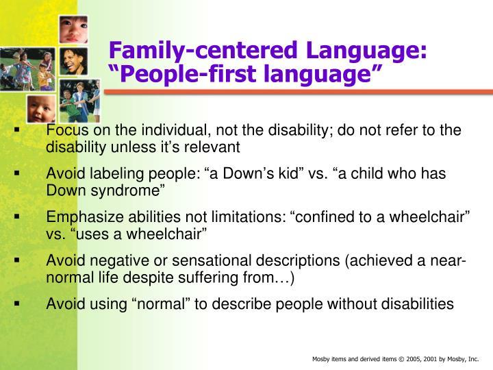 Family-centered Language: