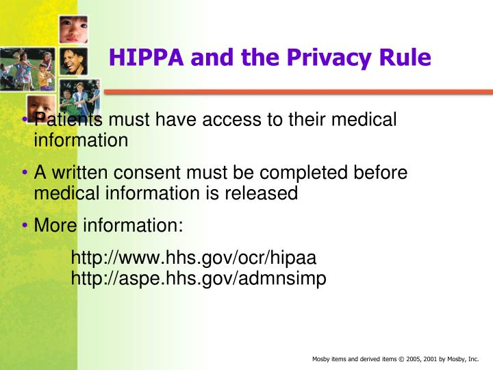 HIPPA and the Privacy Rule