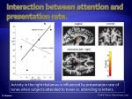 interaction between attention and presentation rate