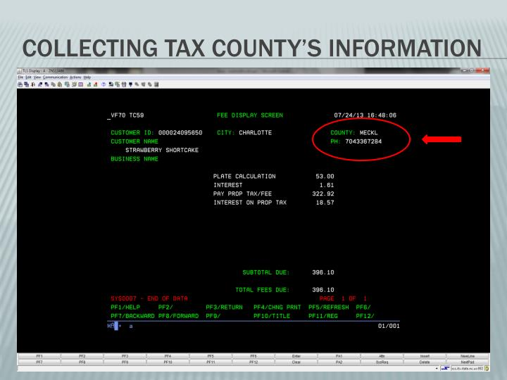 Collecting Tax County's Information