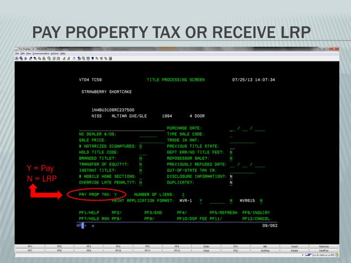 Pay Property Tax or Receive