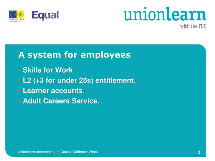 A system for employees