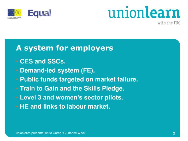 A system for employers