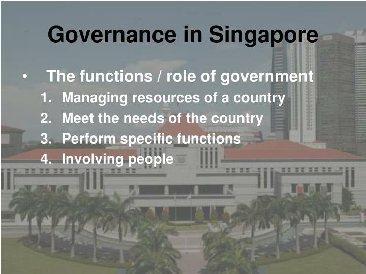 Governance in Singapore