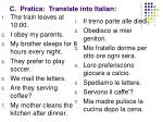 c pratica translate into italian1