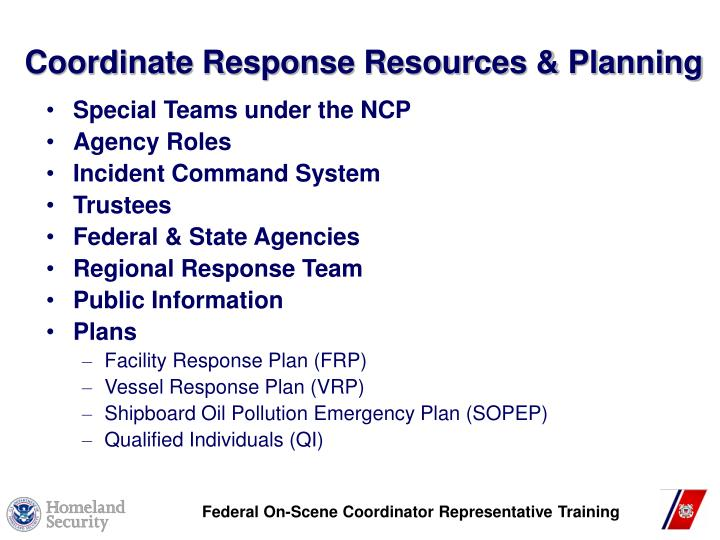 Coordinate response resources planning