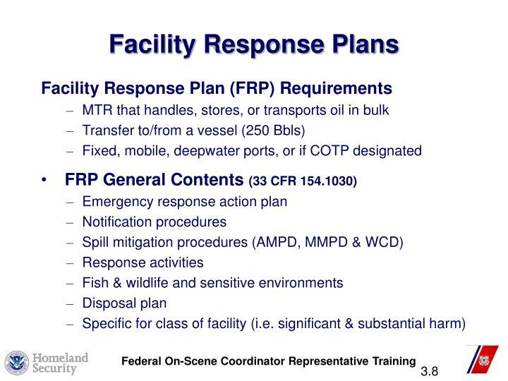Facility Response Plans