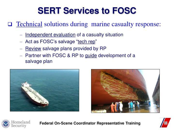 SERT Services to FOSC