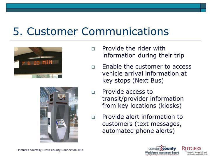 5. Customer Communications