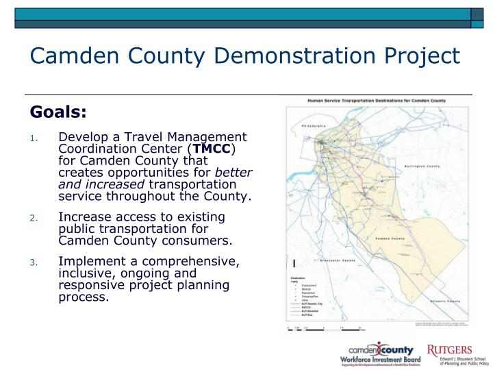 Camden County Demonstration Project