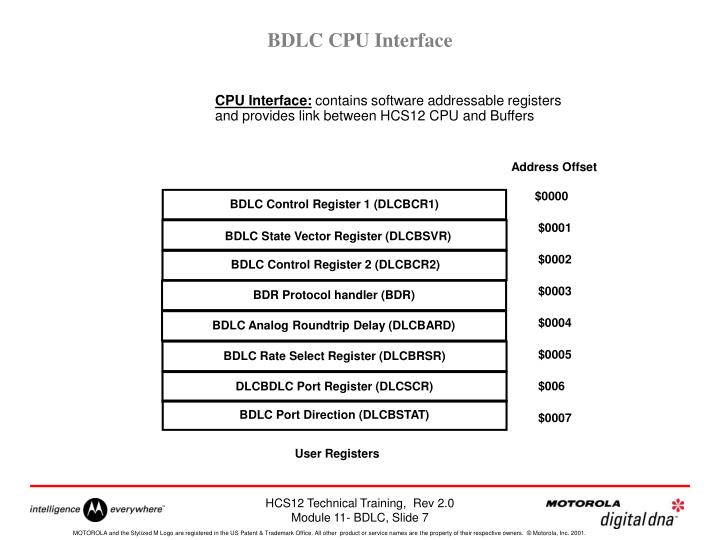 BDLC CPU Interface