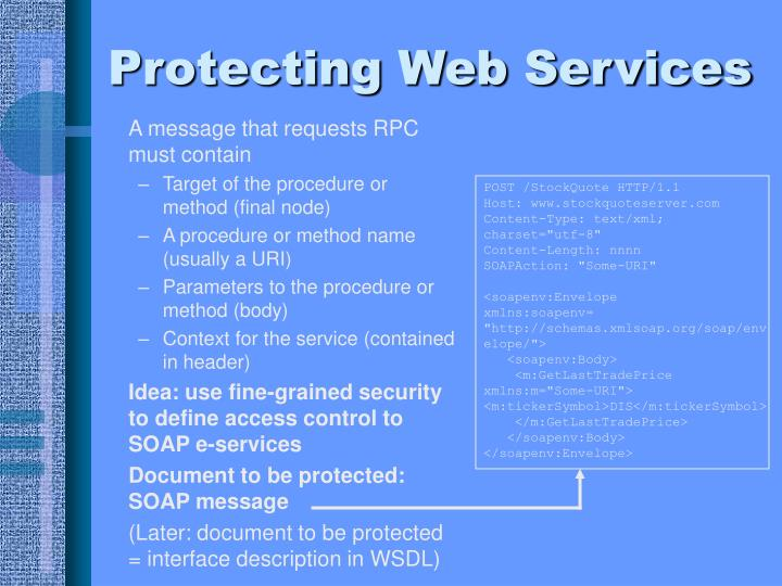 Protecting Web Services