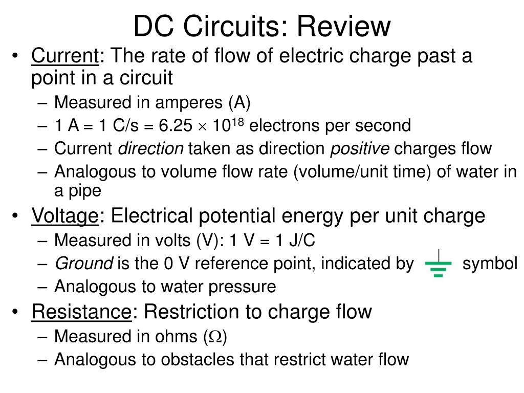 Ppt Dc Circuits Review Powerpoint Presentation Id6777316 Potential Divider Ii Activity N