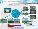 daikin production facilities
