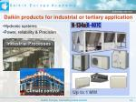 daikin products for industrial or tertiary application