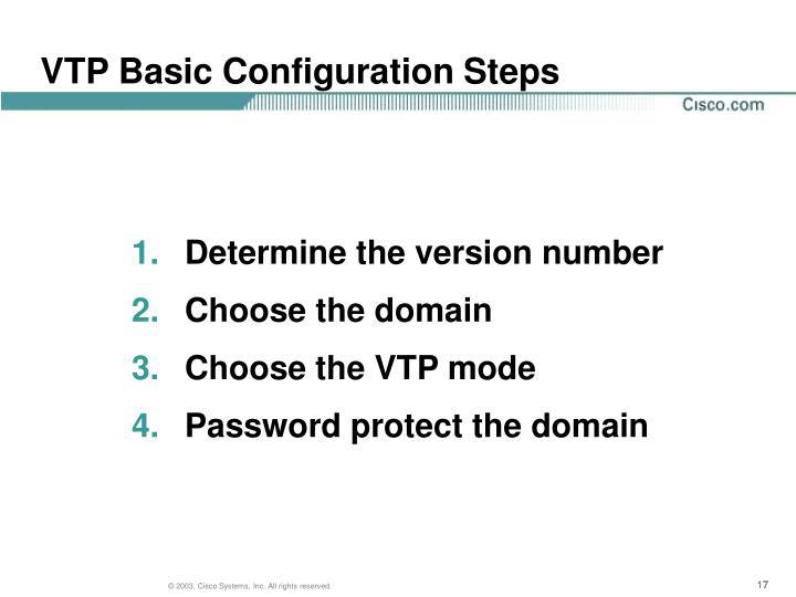 VTP Basic Configuration Steps