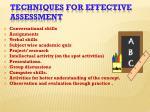 techniques for effective assessment1